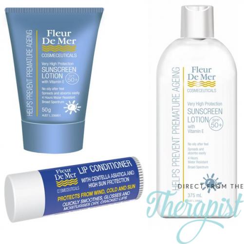 FleurDeMer Sunscreen 3 Pack Contains