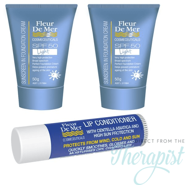 FleurDeMer Sunscreen Light/Lip Pack